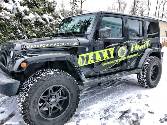 Maxx Force Hockey jeep wrap