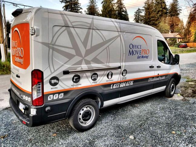 Office Move Pro van wrap
