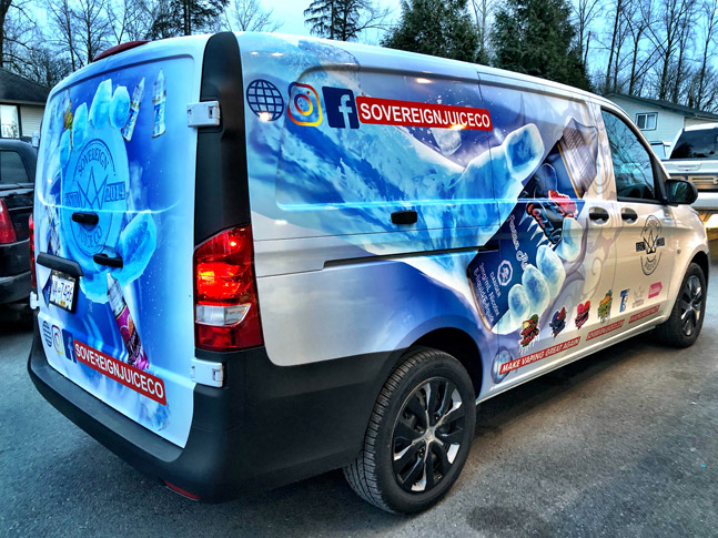 Sovereign Juice Co. van wrap