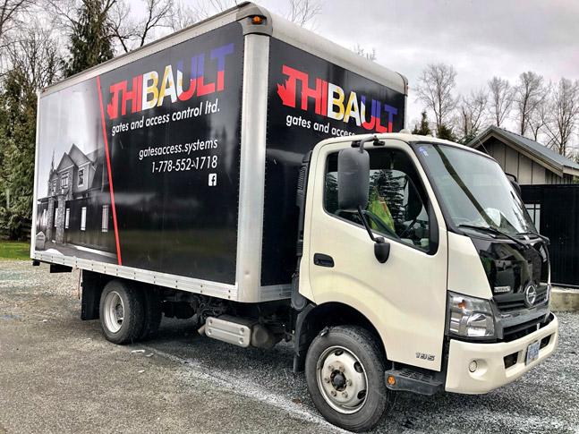 Thibault truck wrap