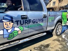 Turf Guys Landscaping truck wrap