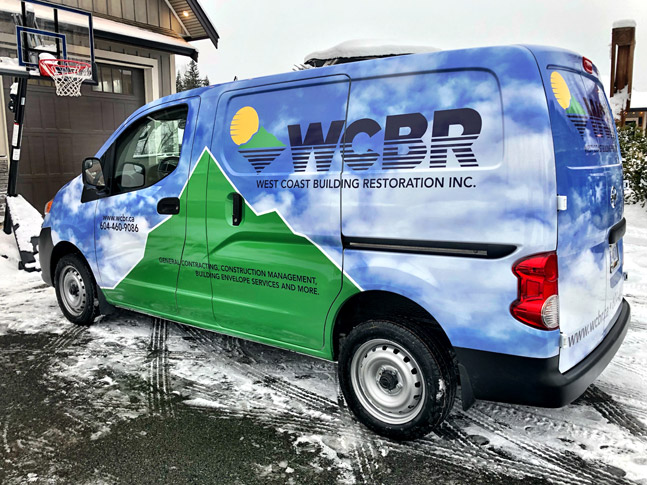 West Coast Restoration Inc. van wrap