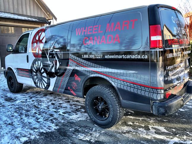 Wheel Mart Canada van wrap