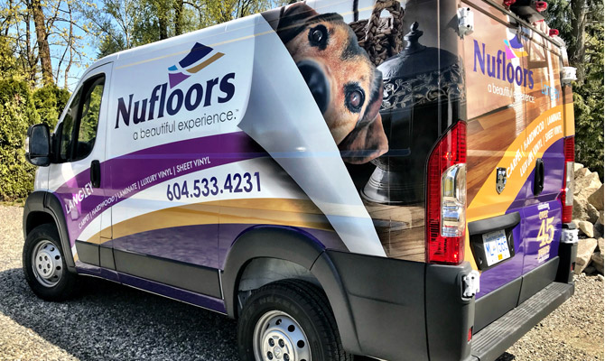 Van wraps in Abbotsford
