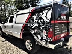 calgary work truck wrap