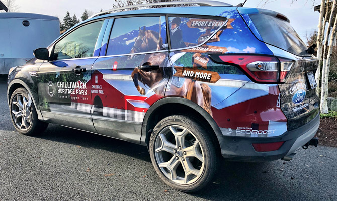 Custom vehicle wraps in Chilliwack