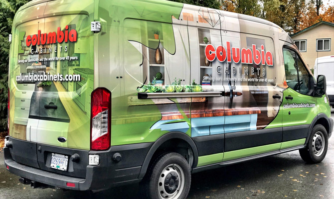 Delta work van wraps