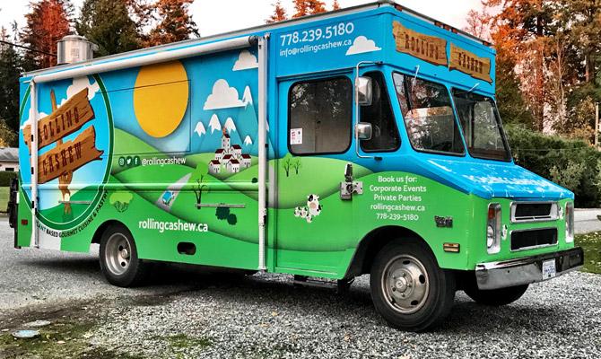 Kelowna food truck wraps