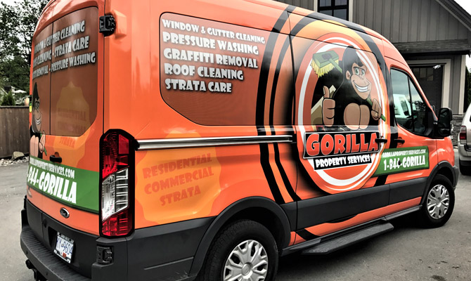 Work van wraps in North Vancouver