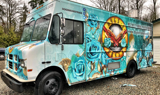 Pitt Meadows food truck wrap