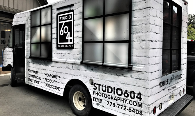 Business truck wraps in Port Moody