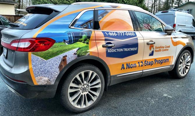 Custom car wraps in Squamish