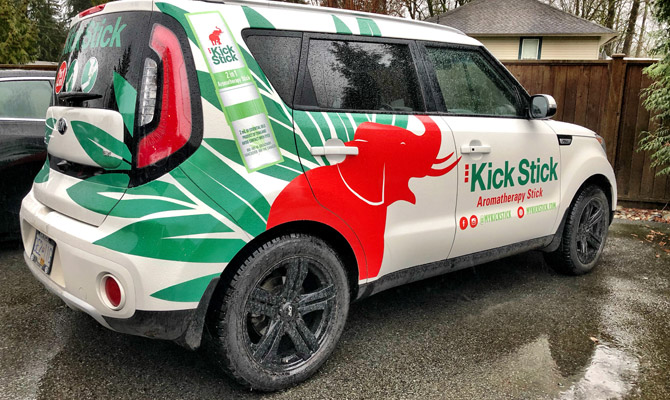 Car wraps in Whistler