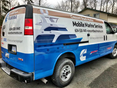 White Rock business van wraps