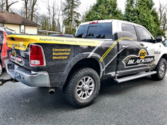 work truck wrap in langley