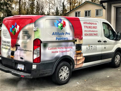 Work van wraps in White Rock