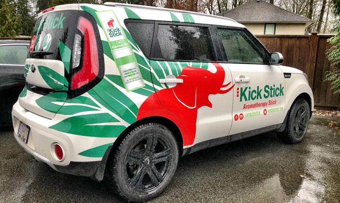Edmonton business car wrap