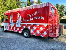 Fly With Tornado Potato food truck wrap
