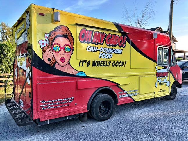 Oh My Gado food truck wrap