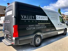 Valley Granite Products full vehicle wrap