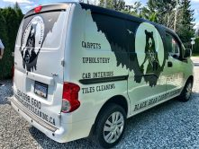 Black Bear Carpet Cleaning vehicle wrap