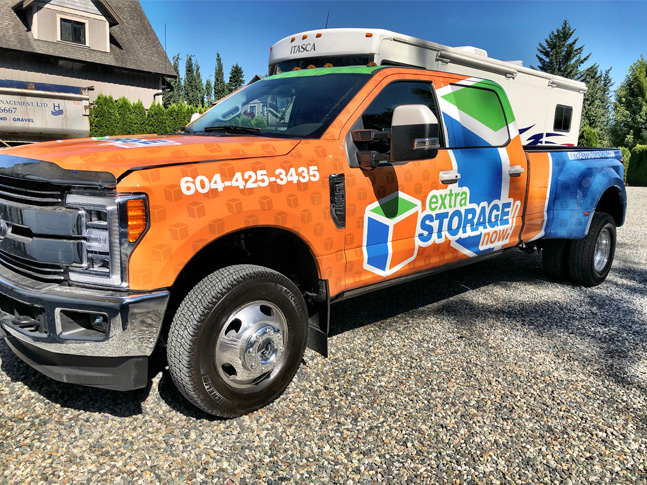 Extra Storage Now! full truck wrap