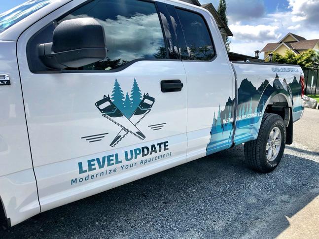 Level Update truck wrap