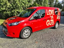 Love Ya Guts partial vehicle wrap