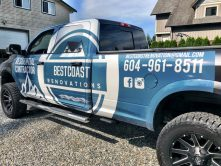 Bestcoast Renovations truck wrap