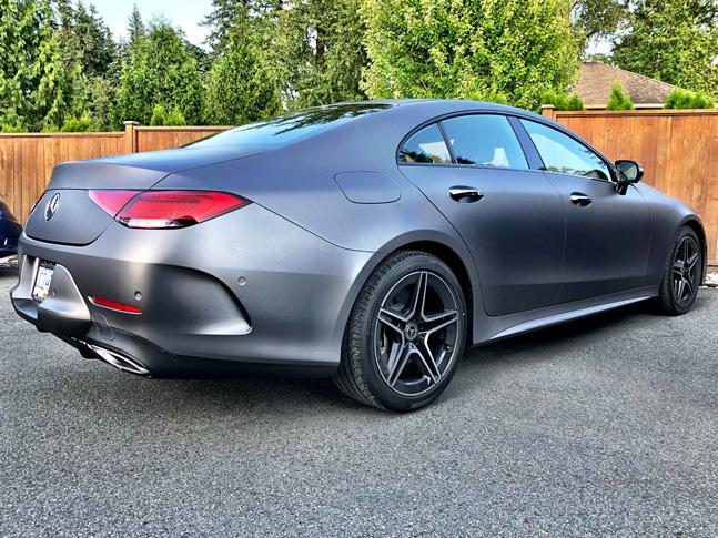 Personal matte grey car wrap