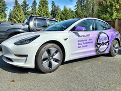 Tesla business vehicle wraps