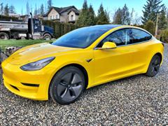 Tesla vinyl wraps