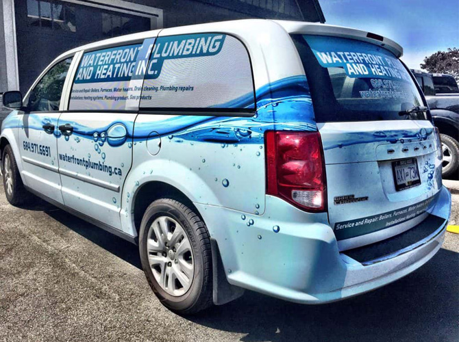 Minivan business wraps