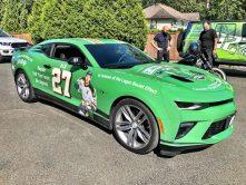 Green Shirt Day car wrap