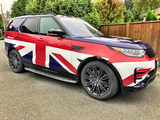 British flag wrap
