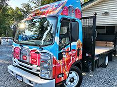 flat bed truck fleet wraps