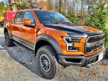 orange personal truck wrap
