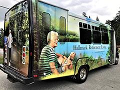 retirement home bus wrap