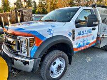 alblaster snow truck vinyl wrap
