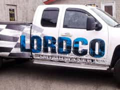 Lordco Partial Graphic Car Wrap